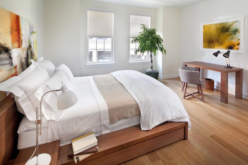 thiết kế cây xanh trong phòng ngủ