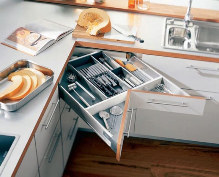 tiết kiệm diện tích không gian bếp