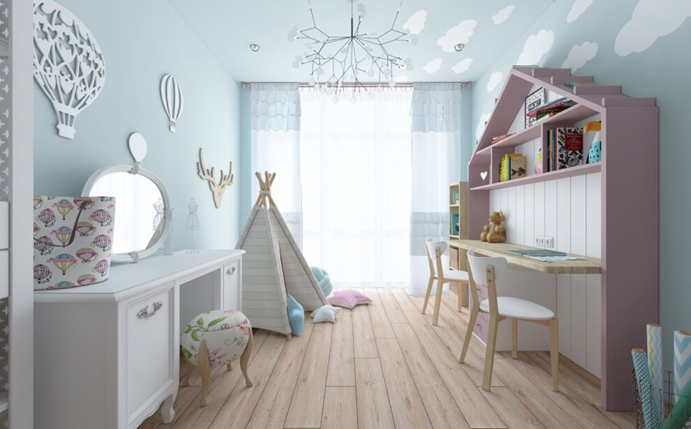 trang trí phòng ngủ trẻ em