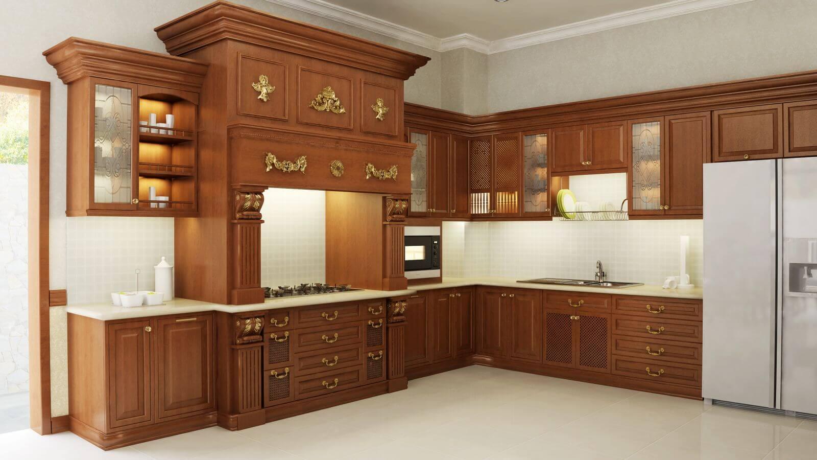 tủ bếp gỗ xoan đào có tốt không?