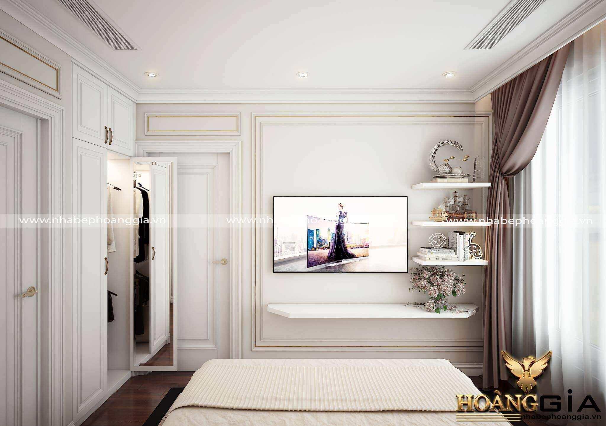 kệ trang trí phòng ngủ đẹp