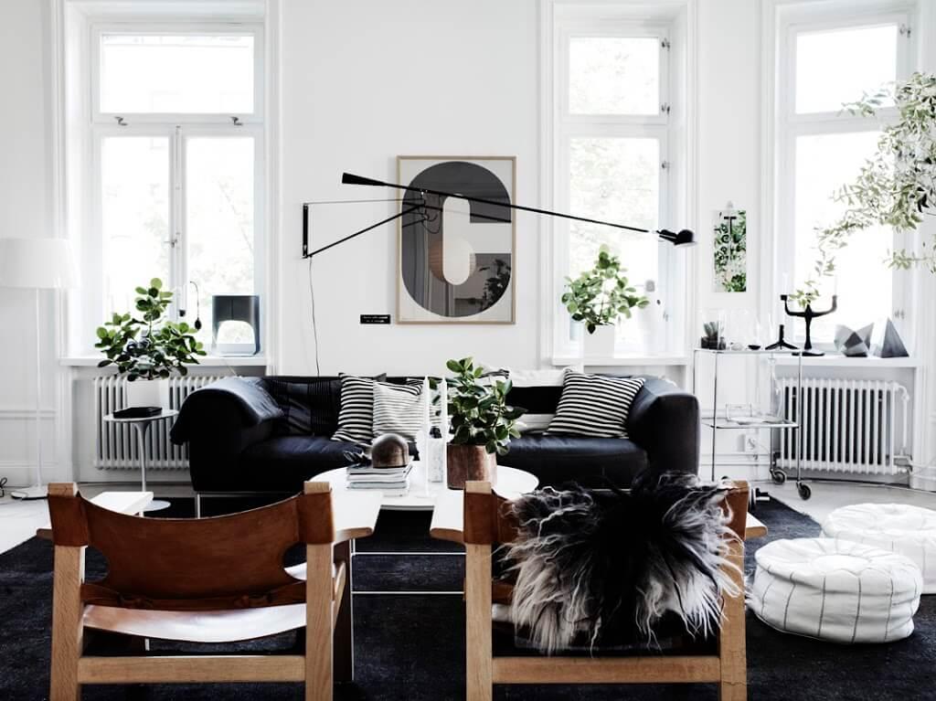 mẫu phòng khách đẹp phong cách Scandinavian