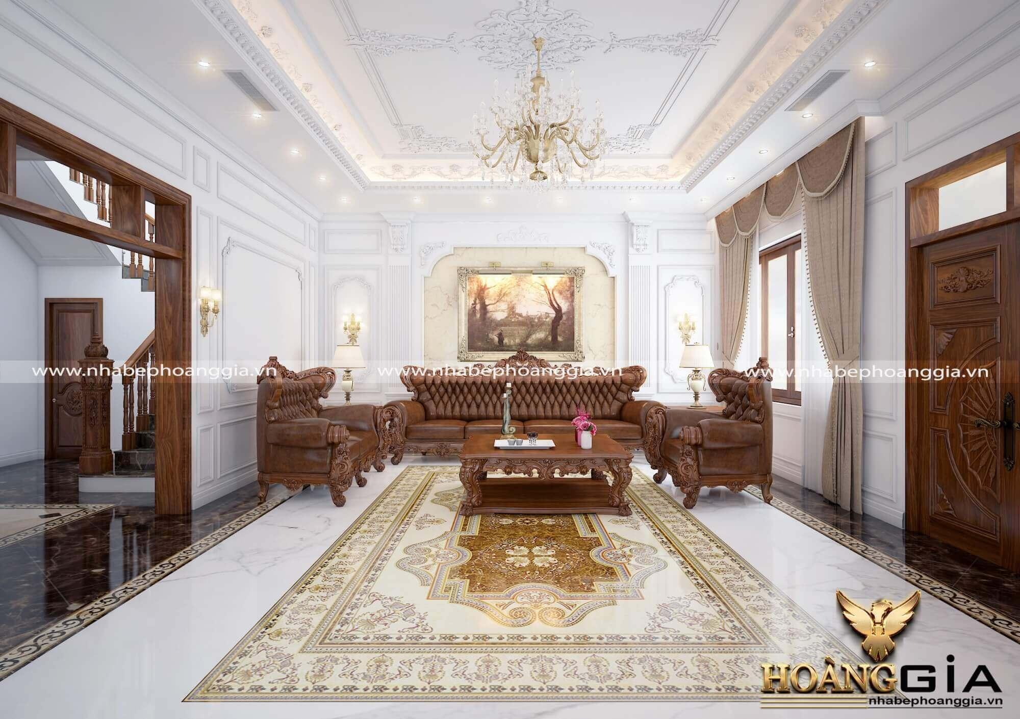 phòng khách đẹp cổ điển