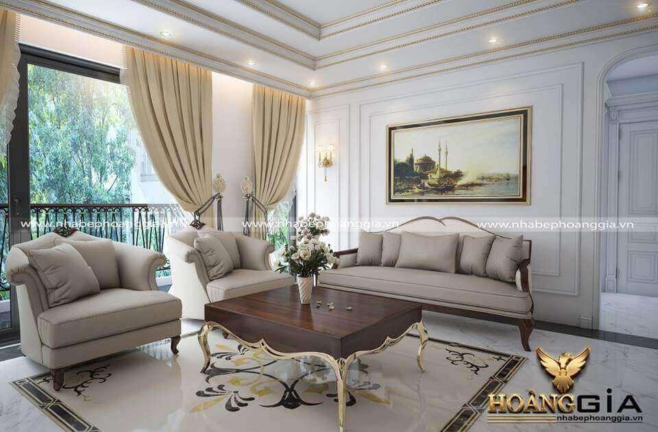 xu hướng thiết kế phòng khách tân cổ điển