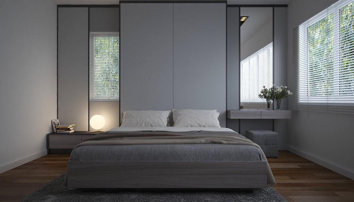 phòng ngủ đẹp với tông màu tối