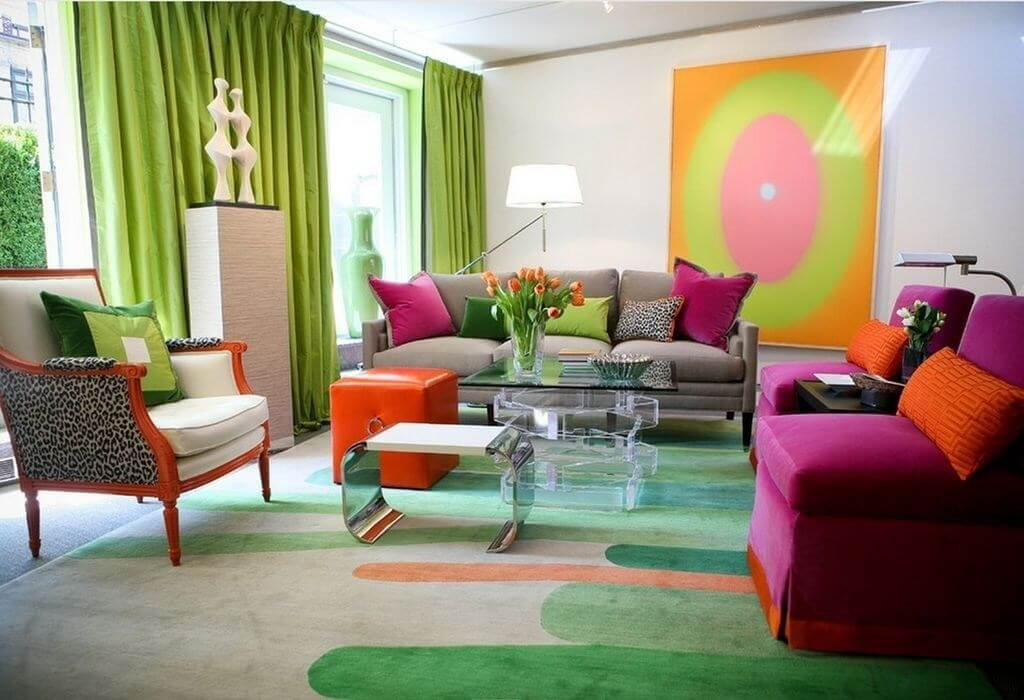thiết kế nội thất Color Block