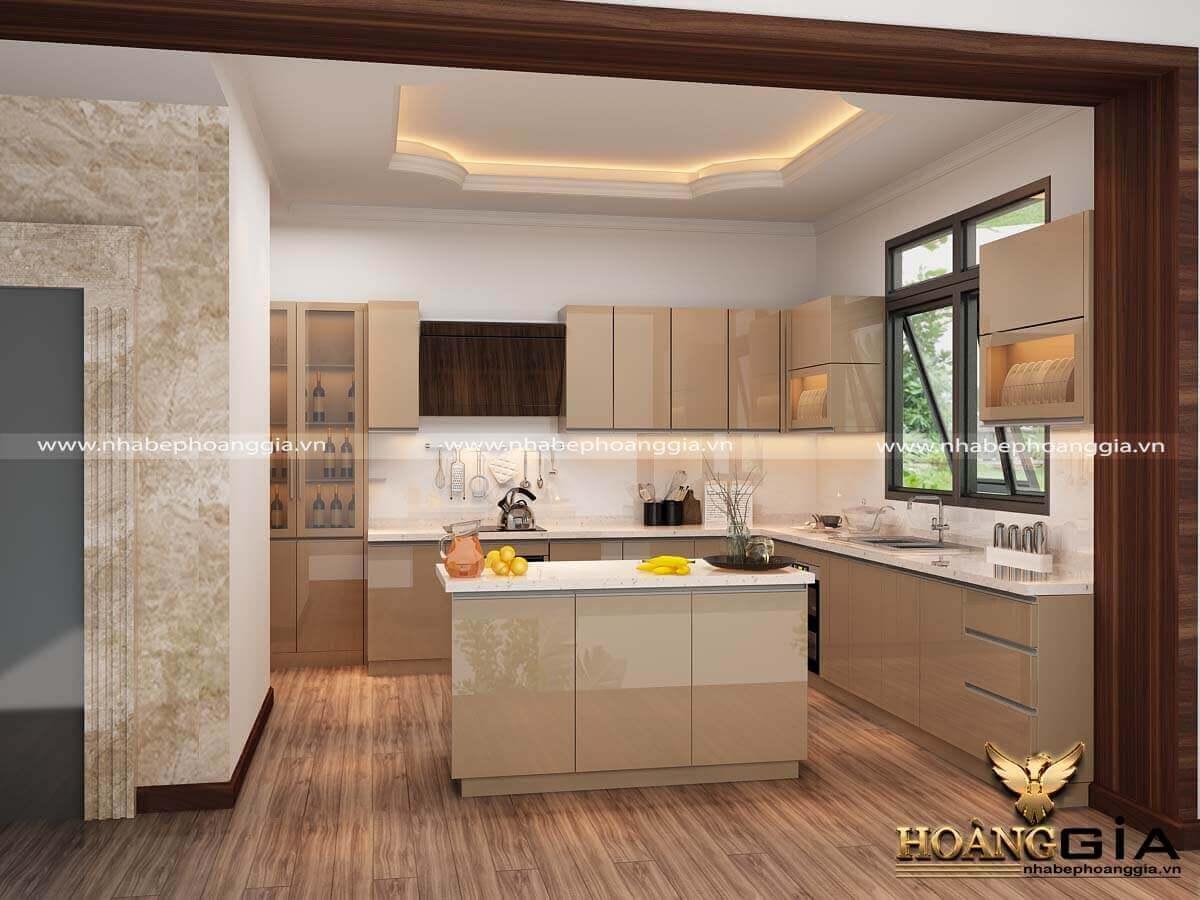 thiết kế tủ bếp đẹp vừa túi tiền