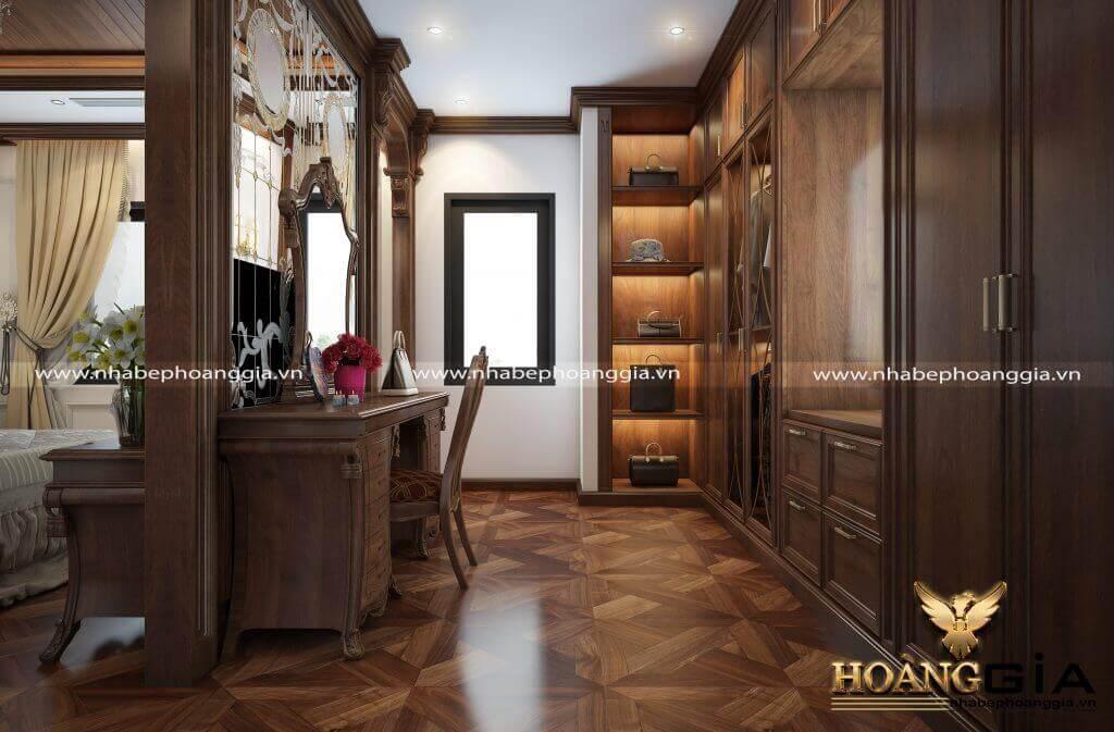 thiết kế nội thất tân cổ điển cho biệt thự song lập