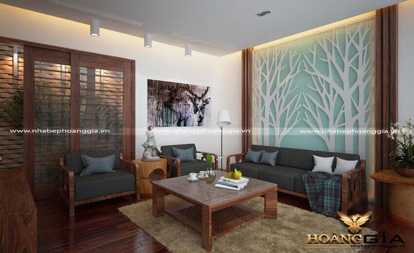 nội thất gỗ tự nhiên phòng khách