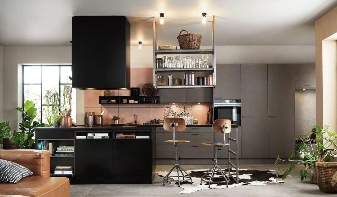 thiết kế phòng bếp đẹp hiện đại nhà ống