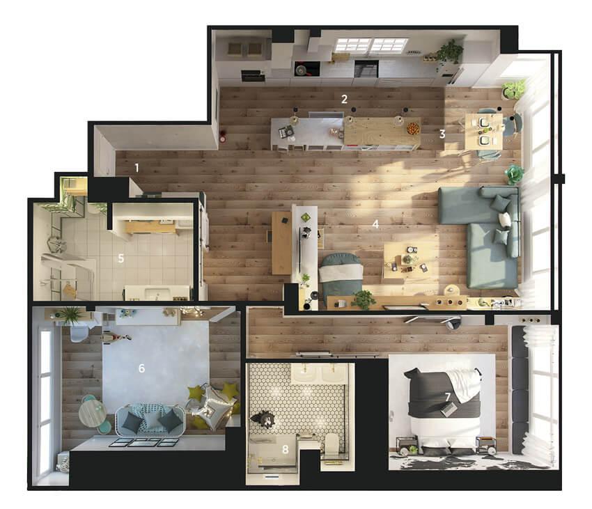 thiết kế nội thất căn hộ chung cư