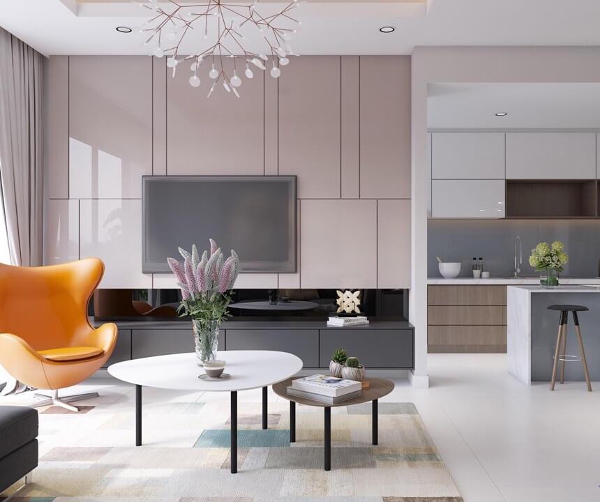 thiết kế nội thất chung cư 80m2 đẹp