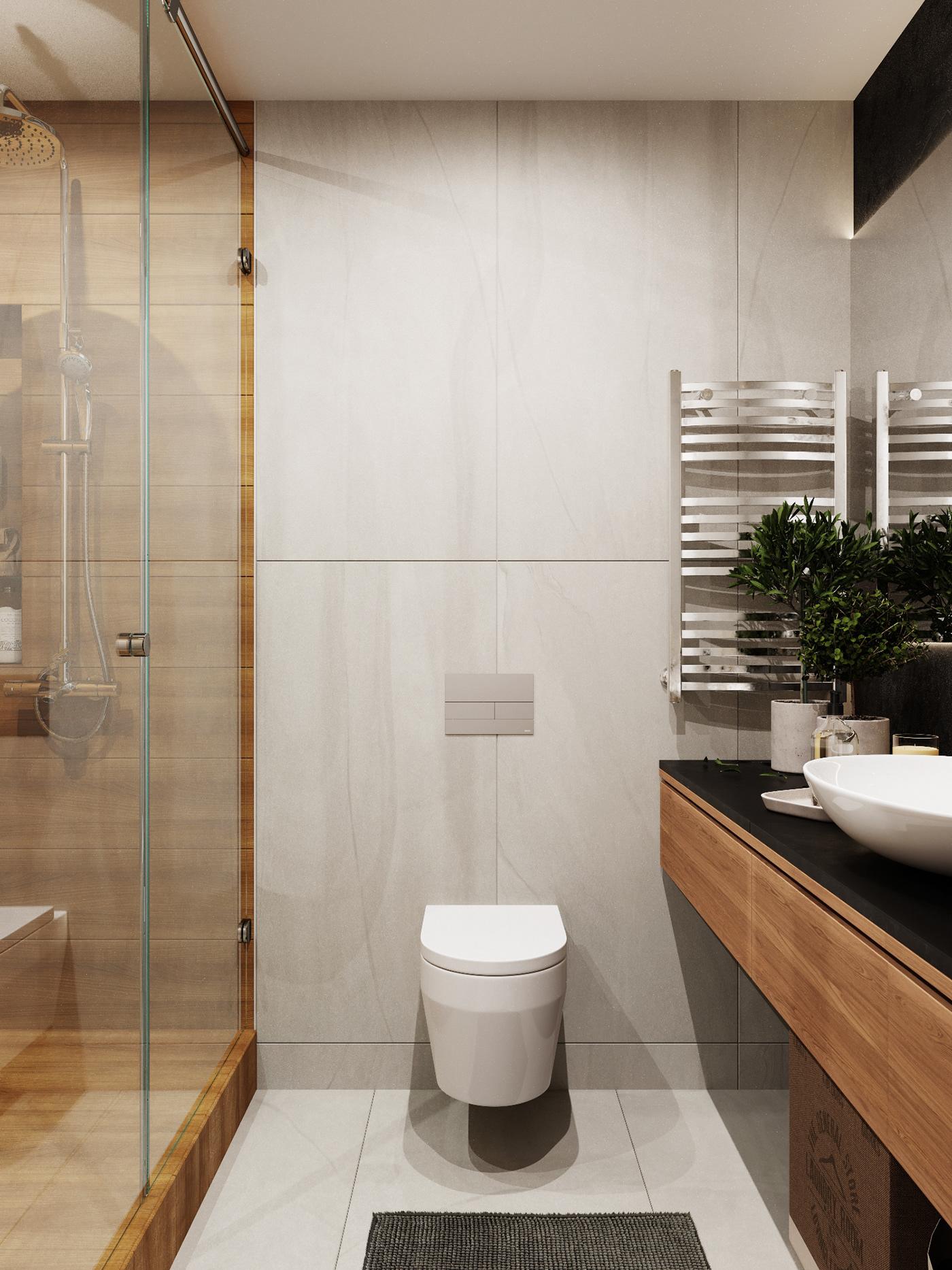 thiết kế căn hộ chung cư 2 phòng ngủ