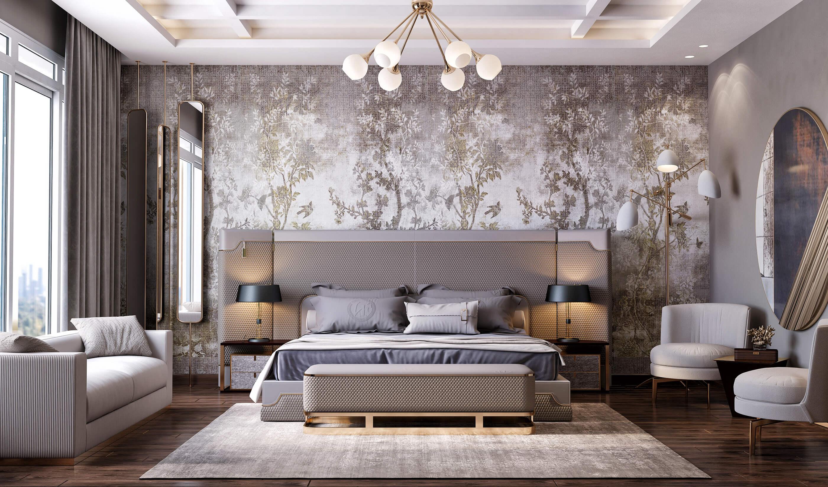 trang trí phòng ngủ sang trọng