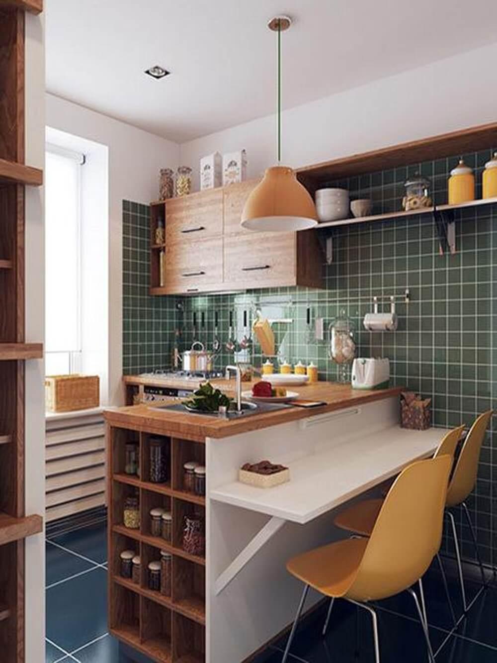 bài trí bàn ăn cho căn bếp nhỏ