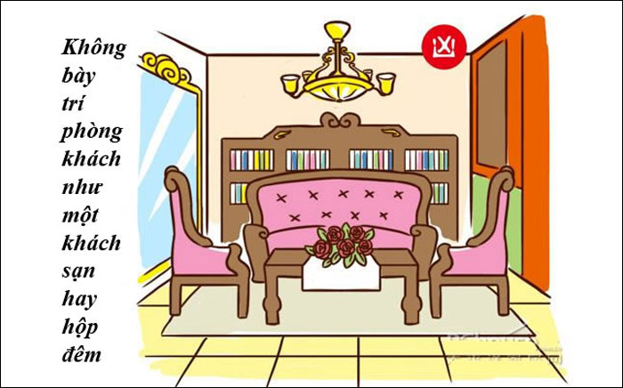 điều cấm kỵ trong phong thủy phòng khách