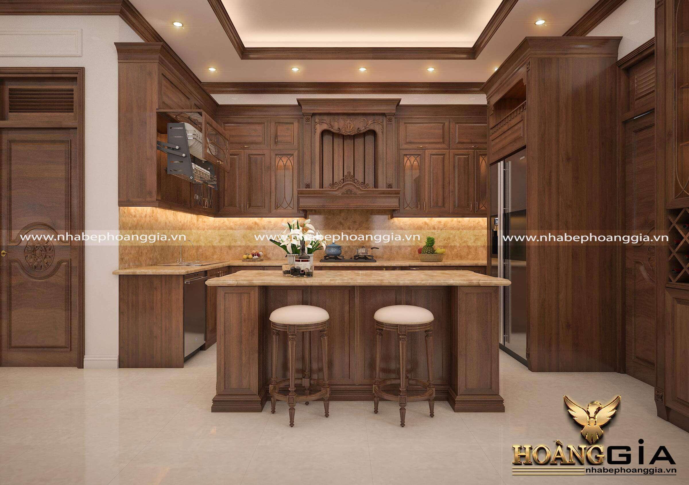 kích thước bàn đảo cho tủ bếp