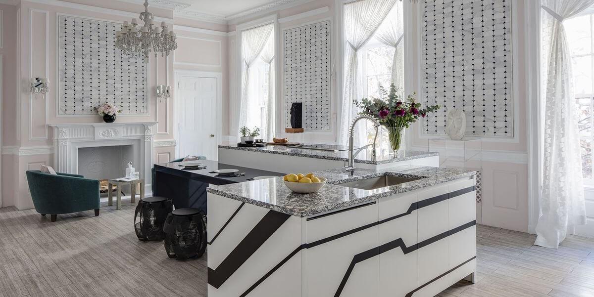 phòng bếp cao cấp phong cách Châu Âu