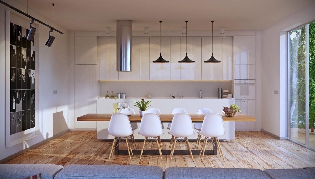 thiết kế phòng bếp mở
