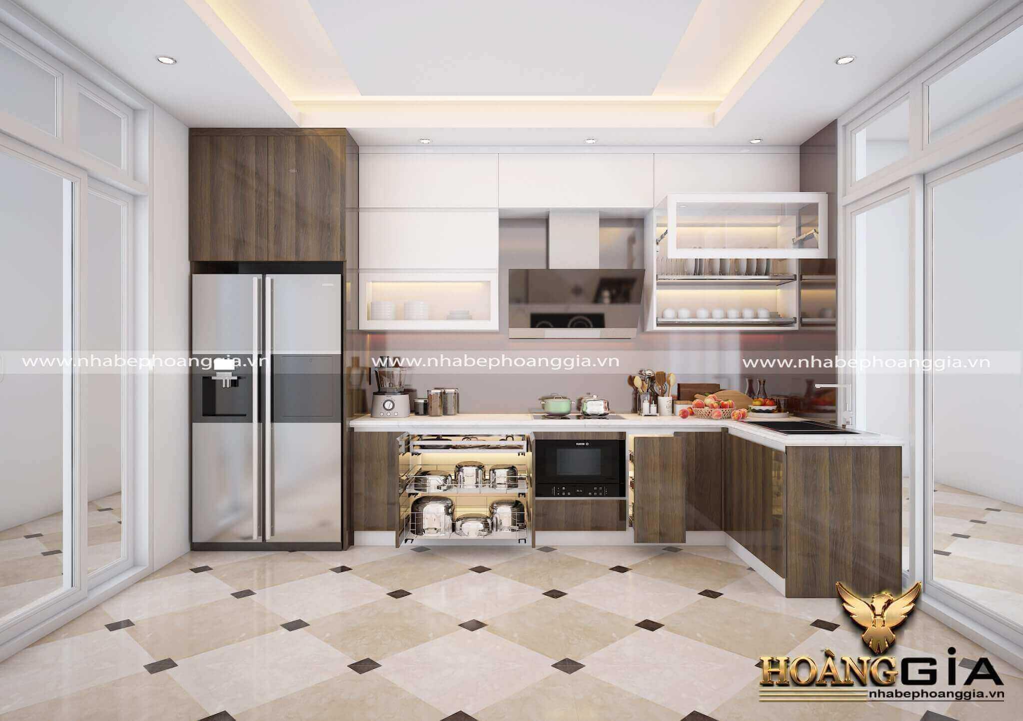 thiết kế tủ bếp đạt chuẩn