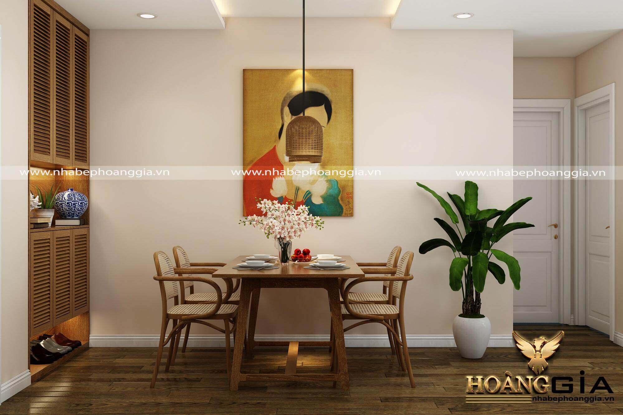 bài trí phòng ăn nhà chung cư