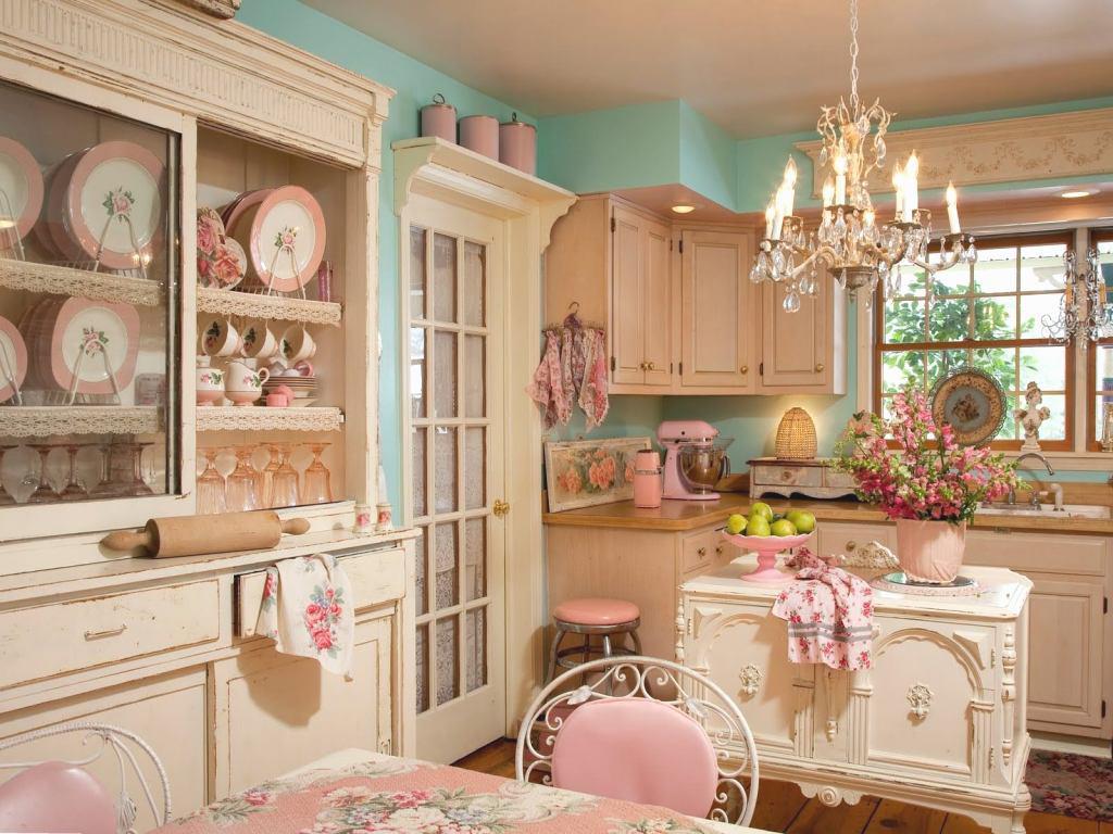 phòng bếp phong cách Vintage