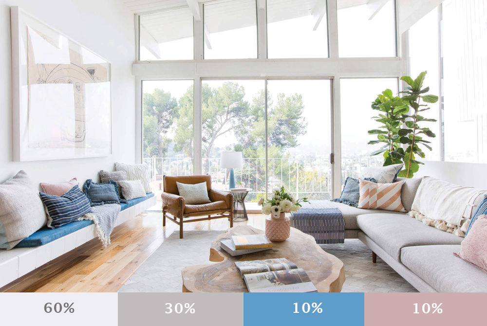 quy tắc phối màu nội thất