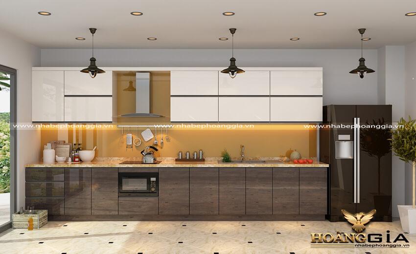 thiết kế đèn LED cho tủ bếp