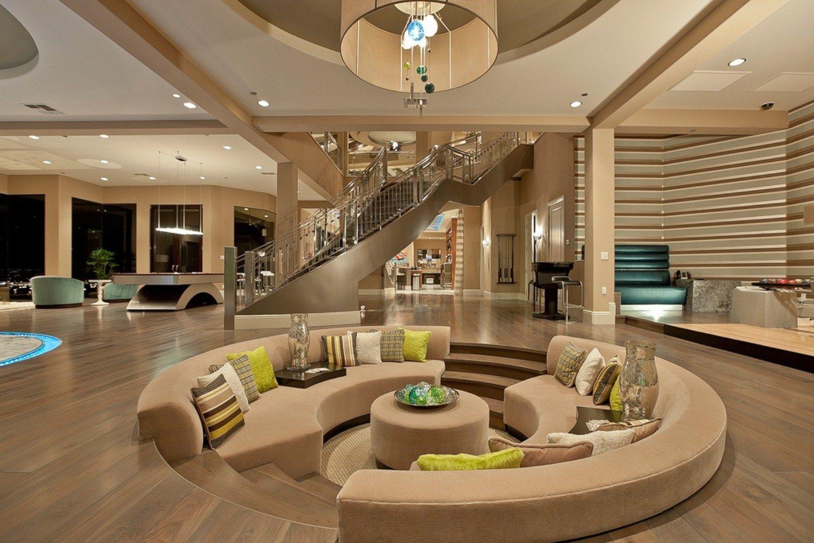 thiết kế phòng khách chìm