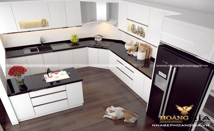 thiết kế tủ bếp góc