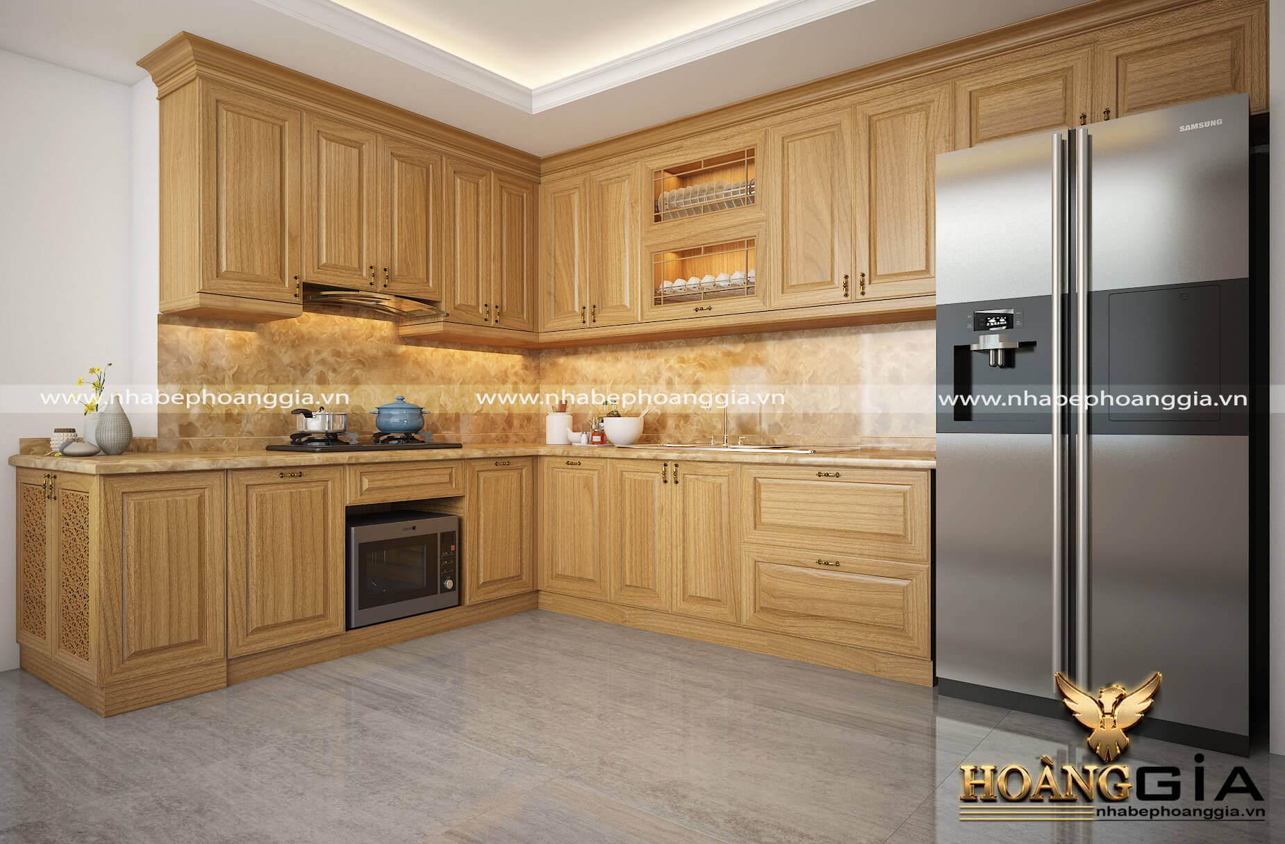 thiết kế tủ bếp nhà phố đẹp