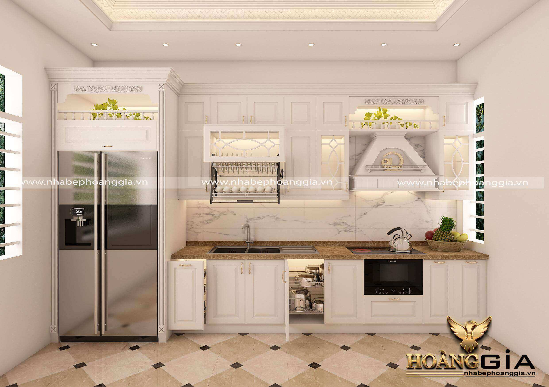 thiết kế tủ bếp nhỏ trông rộng hơn