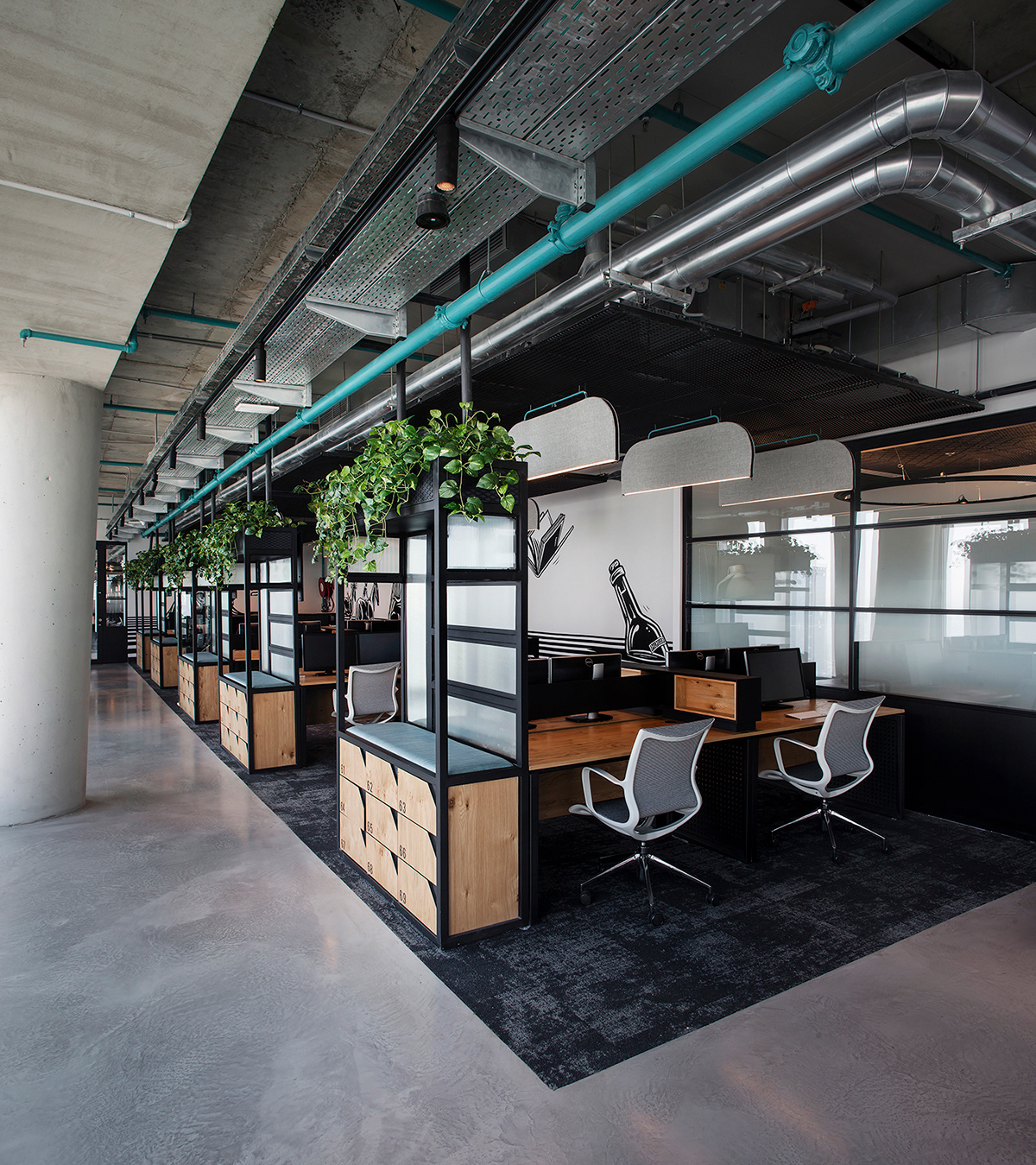 thiết kế văn phòng làm việc hiện đại
