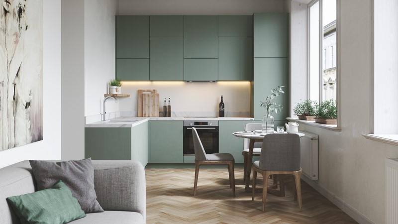 bố trí phòng bếp nhỏ