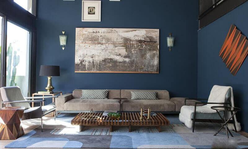 phối màu xanh dương trong thiết kế nội thất
