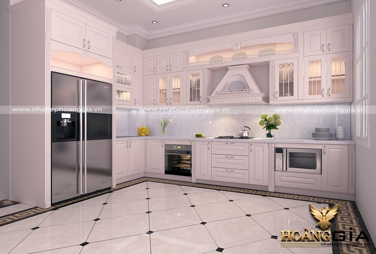 thiết kế phòng bếp nhà ống theo phong thủy