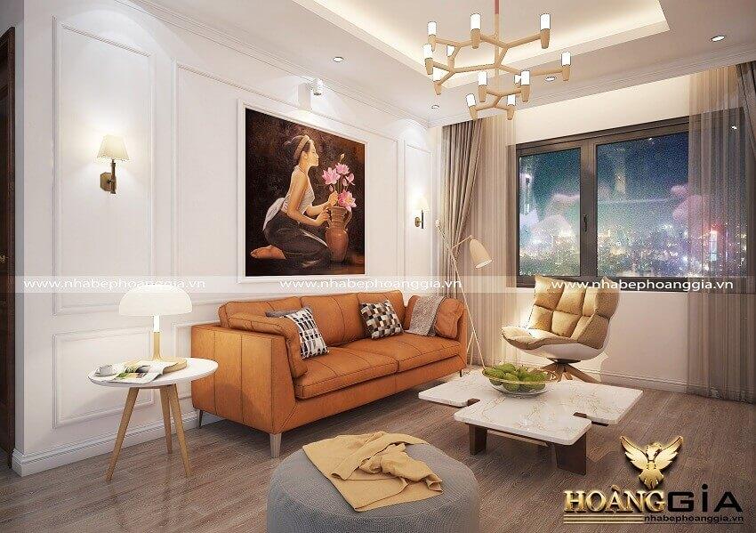 thiết kế phòng khách 18m2