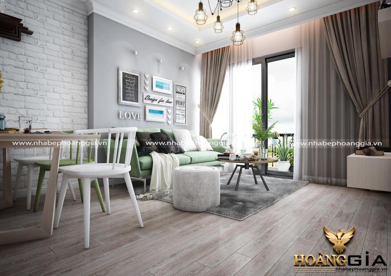 thiết kế phòng khách không gian mở đẹp