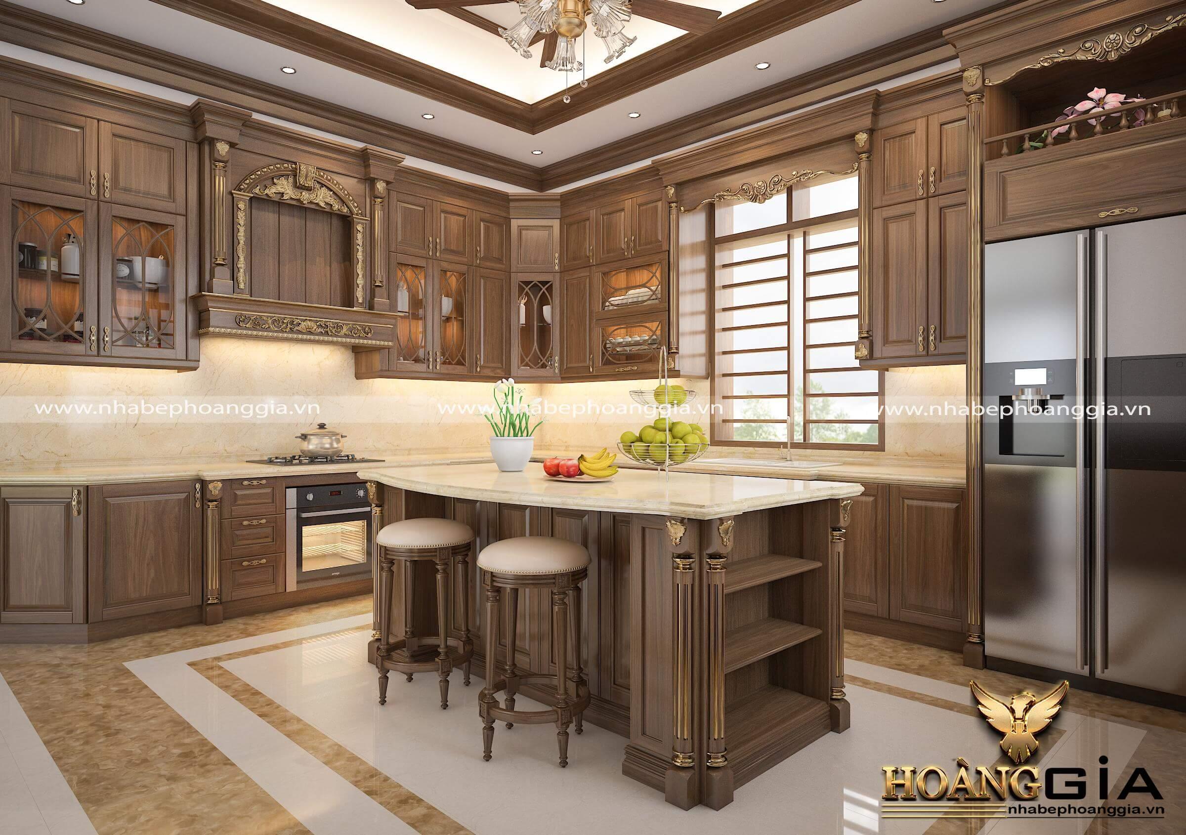 thiết kế thi công tủ bếp tại Thái Bình