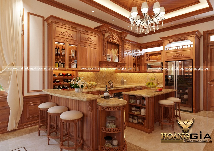 thiết kế thi công tủ bếp tại Vĩnh Phúc