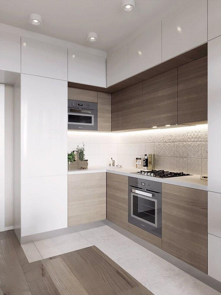 thiết kế tủ bếp âm tường