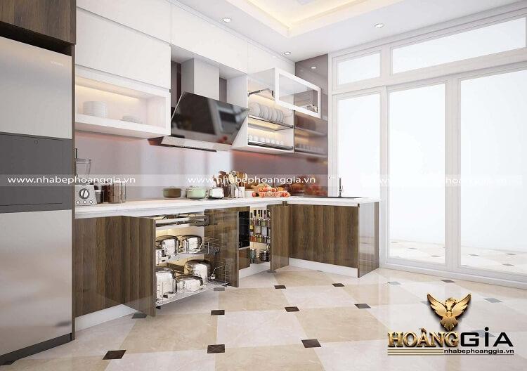 tủ bếp hiện đại bao gồm những phụ kiện gì