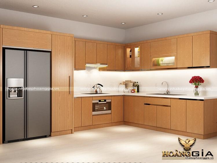 xưởng sản xuất tủ bếp gỗ Laminate