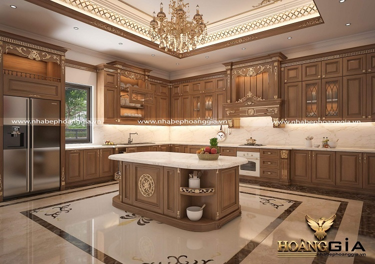 nội thất tân cổ điển gỗ tự nhiên