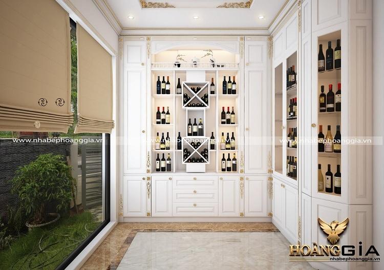 thiết kế tủ rượu tân cổ điển