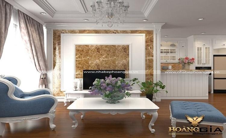 lựa chọn gạch ốp tường phòng khách