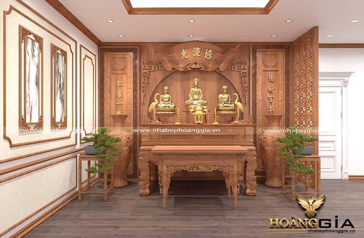 thiết kế phòng thờ gia tiên đẹp