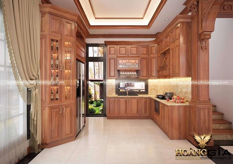 thiết kế tủ bếp tân cổ điển cho nhà phố