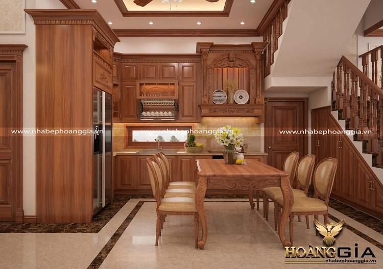 tủ bếp gỗ gõ đỏ có tốt không