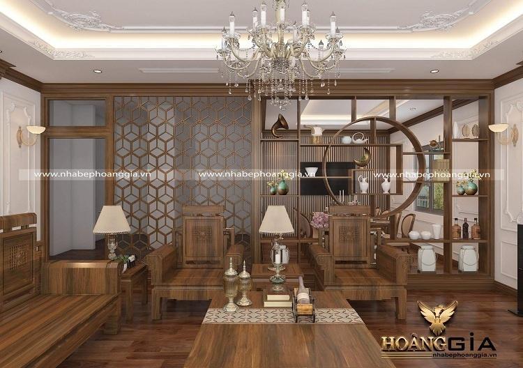 kệ gỗ trang trí phòng khách đẹp